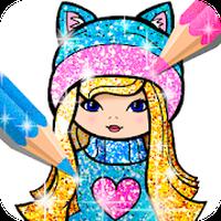 Ícone do Meninas Colorir Glitter: Jogo de Meninas
