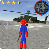 Ícone do Spider Stickman Rope Hero Gangstar Crime