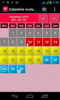 Calendario Di Ovulazione.Calendario Ovulazione L Regole 1 0 Download Gratis Android