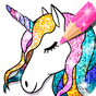 Unicorn Coloring Book Glitter 1.2.3