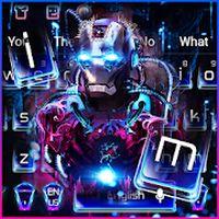Ícone do apk Neon Iron Hero Robot Keyboard Theme