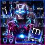 Neon Iron Hero Robot Keyboard Theme  APK