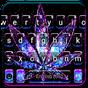 Shiny Galaxy Weed Tema de teclado 1.0