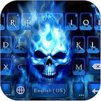 Flaming Skull Kika Keyboard Simgesi