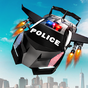 Flying Police Car Transform Robot Shooting Games 10