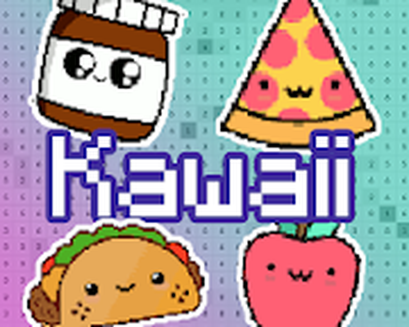 Pixel Art Kawaii Facile Food