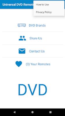 Universal DVD Remote Control Android - Free Download
