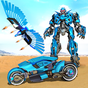Flying Police Eagle Transform Bike Robot Shooting 17