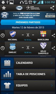 Copa Bridgestone Libertadores screenshot apk 0