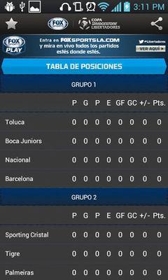 Copa Bridgestone Libertadores screenshot apk 3
