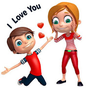 3D Romantic Stickers for whatsapp: WAStickerApps 19.0