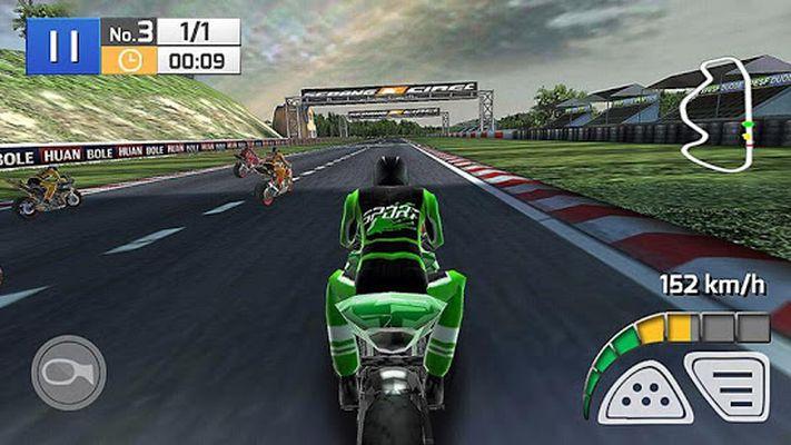 Motorradrennen Bremse