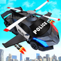 Flying Police Helicopter Car Transform Robot Games 3