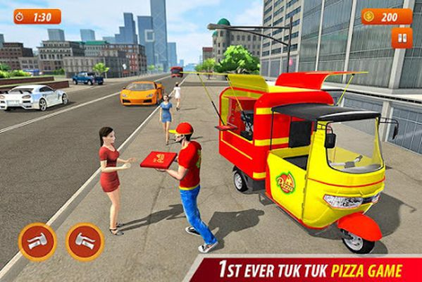Tuk Tuk City Pizza Delivery Screenshot Apk 2