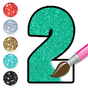 Glitter Number Coloring and Drawing Book For Kids 2.0