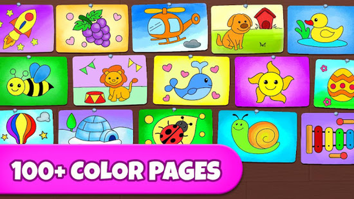 Coloring Games Coloring Book Painting Glow Draw Android Free