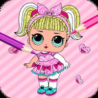 Ícone do Cute Dolls Gliter Coloring Pages