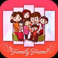 Ícone do Editor de fotos de família - molduras