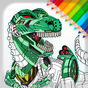 Buku Mewarnai Robot Dino untuk anak laki-laki