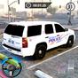 Süper Çılgın Sürme Polis araba Otopark