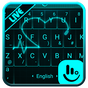 Live 3D Neon Heart Keyboard Theme 6.11.16