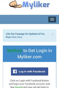 Baixar My liker - Get Facebook Likes 1 0 APK Android grátis