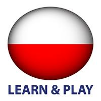 Ícone do Aprender e jogar. Polonês free
