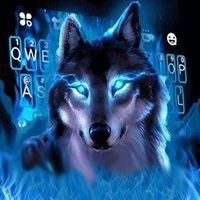 Ícone do Novo tema de teclado Cool Neon Wolf
