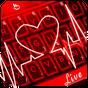 Corazón rojo de neón Tema del Teclado 6.12.18