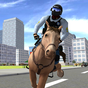 Cavalo de polícia montado 3D 1.3