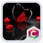 Romantic Hearts Theme: Red Color Black heart Love 4.8.7