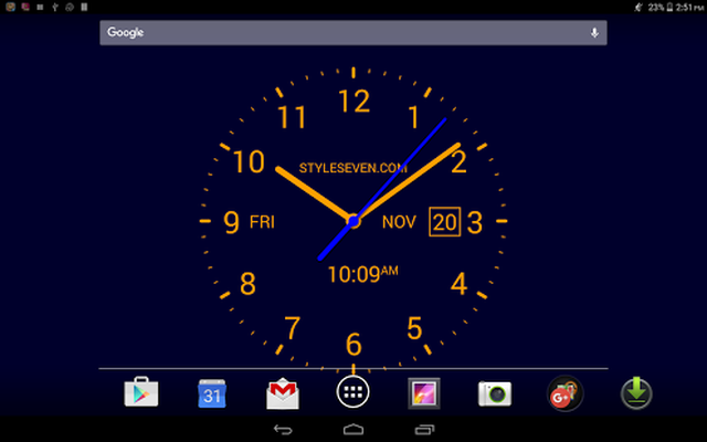 Analog Clock LiveWallpaper7PRO Android - Free Download Analog Clock