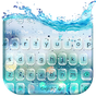 Glass water keyboard theme 10001003