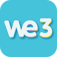 Ícone do We3 - Meet new people & make friends, 3 at a Time