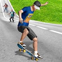 거리 스케이트 보드 스케이트 타기 경기 아이콘