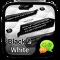 (FREE)GO SMS BLACK&WHITE THEME 3.3.1