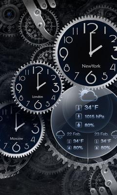 Black Clock Live Wallpaper Hd 105 Android Descargar
