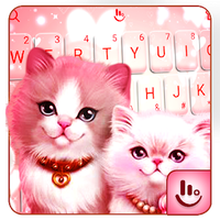 Lovely Cute Pink Kitty Cat Keyboard Theme icon