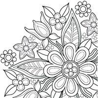 Ikon Bunga mewarnai mandala buku