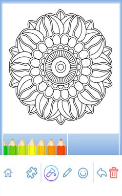 Flori Carte De Colorat Mandala Android Download
