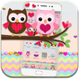 Pink Lovely Owl Cartoon Theme 1.1.3