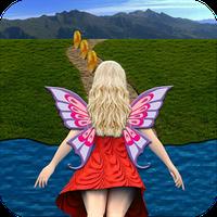 Flying Girl Runner. Simgesi