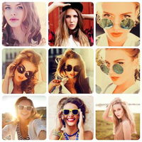 Icono de Retícula de fotos - collage