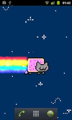 Nyan Cat Live Wallpaper Captura De Pantalla Apk 1