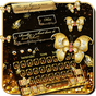 SMS Gold Butterfly Shining Keyboard Theme 10001002