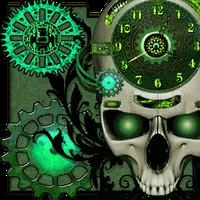 Steampunk Clock Live Wallpaper Simgesi