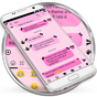 SMS Messages Ribbon Pink Black Theme 4.0