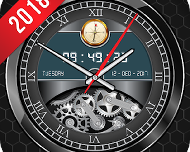 Luxury Watch Analog Clock Live Wallpaper Free 2018 Android - Free
