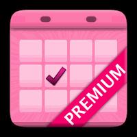 Icône de Calendrier Menstruel Premium