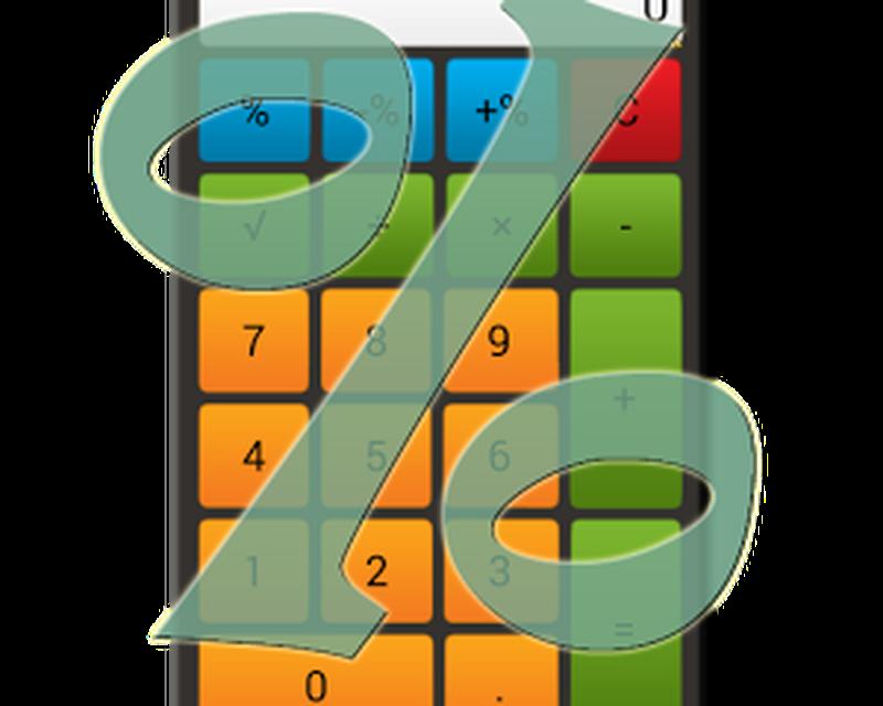 Calculando porcentagem na calculadora